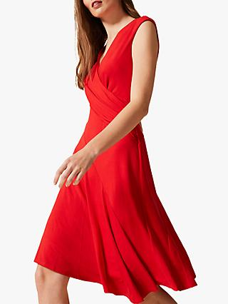 Phase Eight Maura Wrap Dress, Red