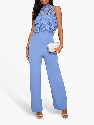 Chi Chi London Poppie Jumpsuit, Blue