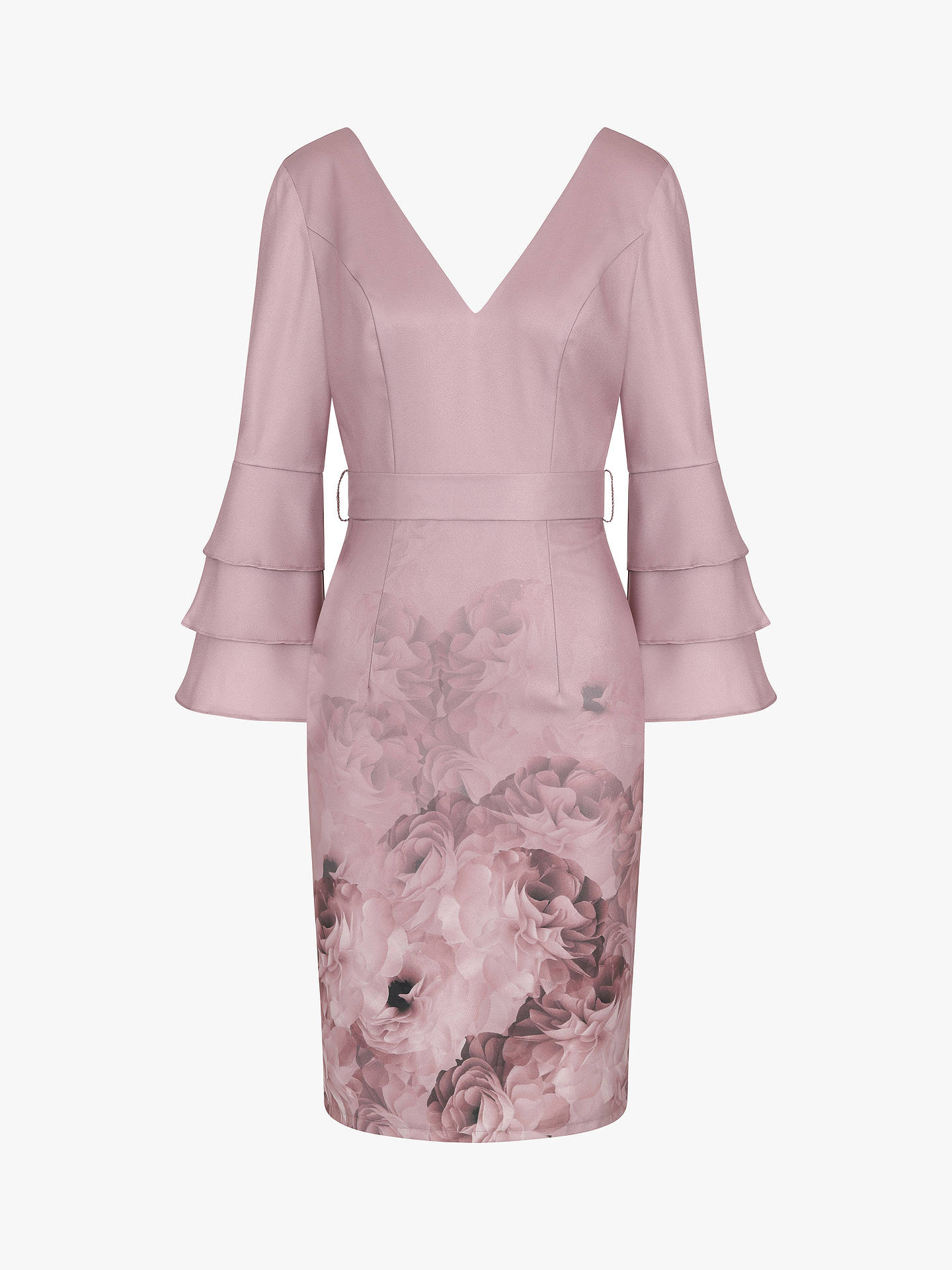 Buy Chi Chi London Carmissa Dress, Mink, 10 Online at johnlewis.com