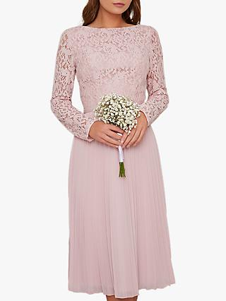 Chi Chi London Carlen Lace Dress, Pink