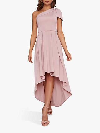 Chi Chi London Eilish High Low Hem Dress, Mink