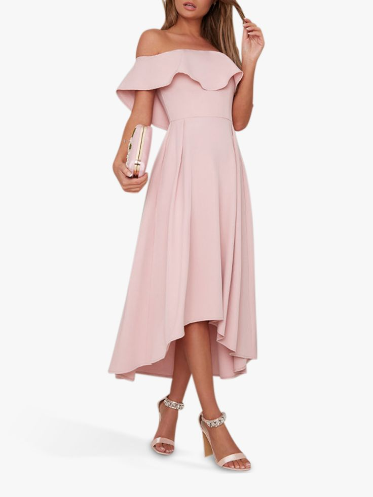 Chi Chi London Chi Chi London Wanda Ruffle Dress, Mink