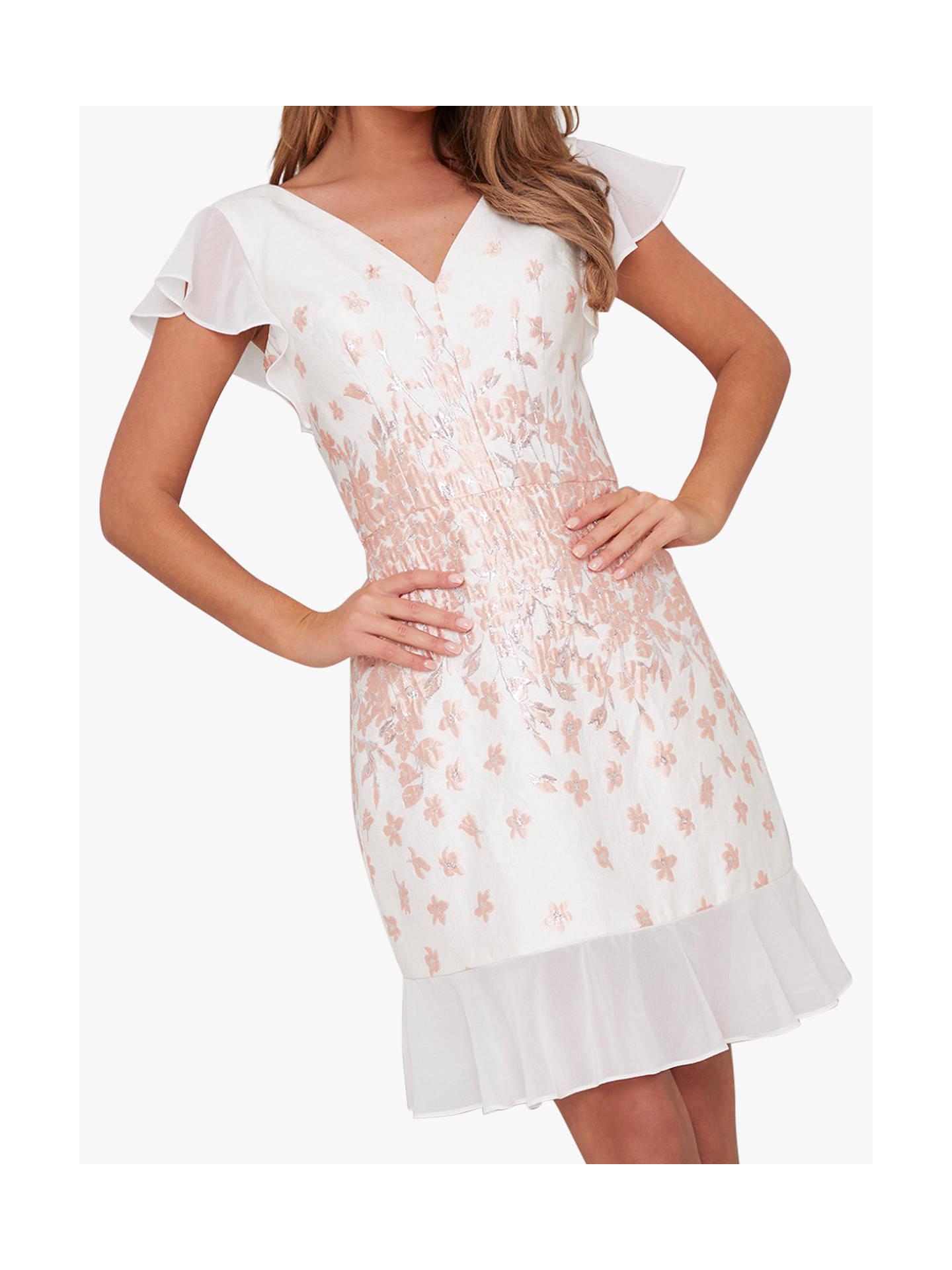 487584b0c5 Chi Chi London Nelley Metallic Embroidered Dress, White