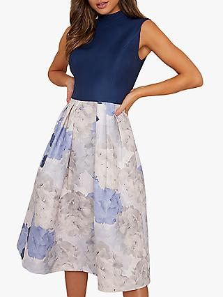Chi Chi London Cyd Floral Dress, Navy