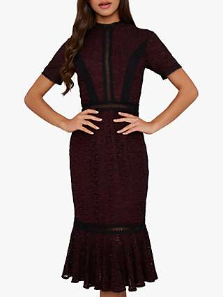 Chi Chi London Sharney Dress, Berry