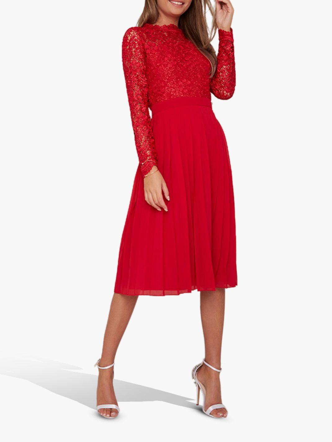 Chi Chi London Chi Chi London Naarah Lace Dress, Red