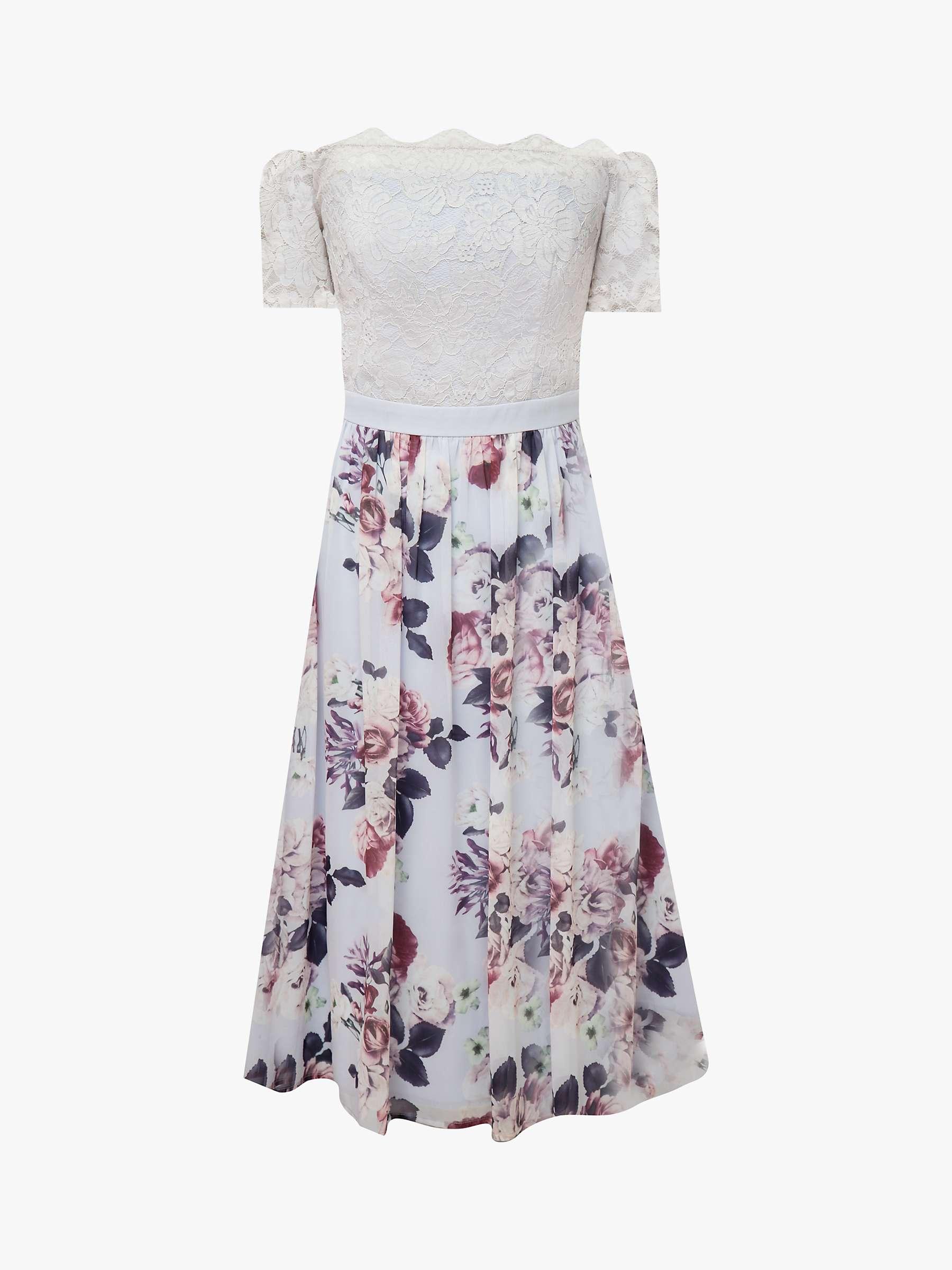 Chi Chi London Alia Bardot Dress, Lilac at John Lewis & Partners