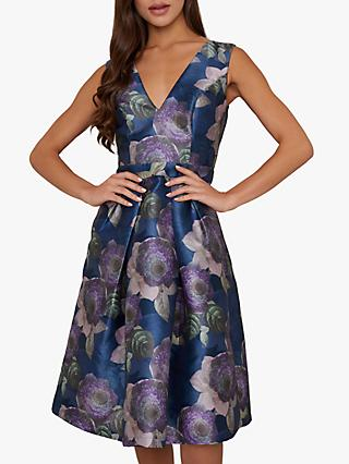Chi Chi London James Floral Dress, Navy