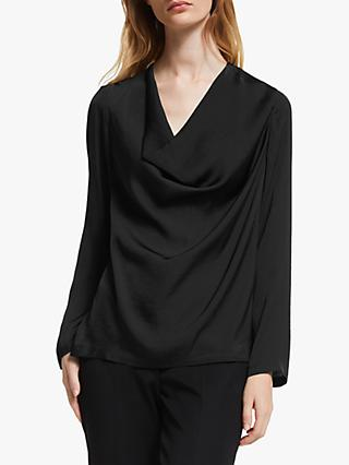 John Lewis & Partners Cowl Neck Top
