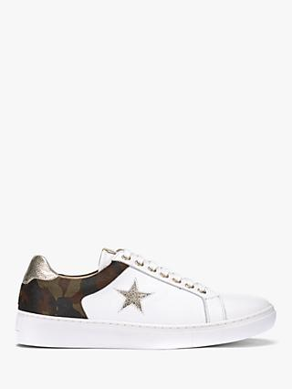 Mint Velvet Dulcie Camo And Star Trainers, White