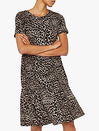 f1a598a0a1b8 Warehouse Leopard Print T-Shirt Dress, Multi