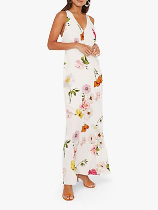 Warehouse Floral Open Back Dress, Multi