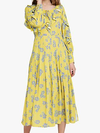 Ghost Lottie Dress, Yellow/Multi