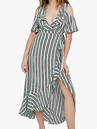 Ghost Lydia Stripe Dress, Pepper