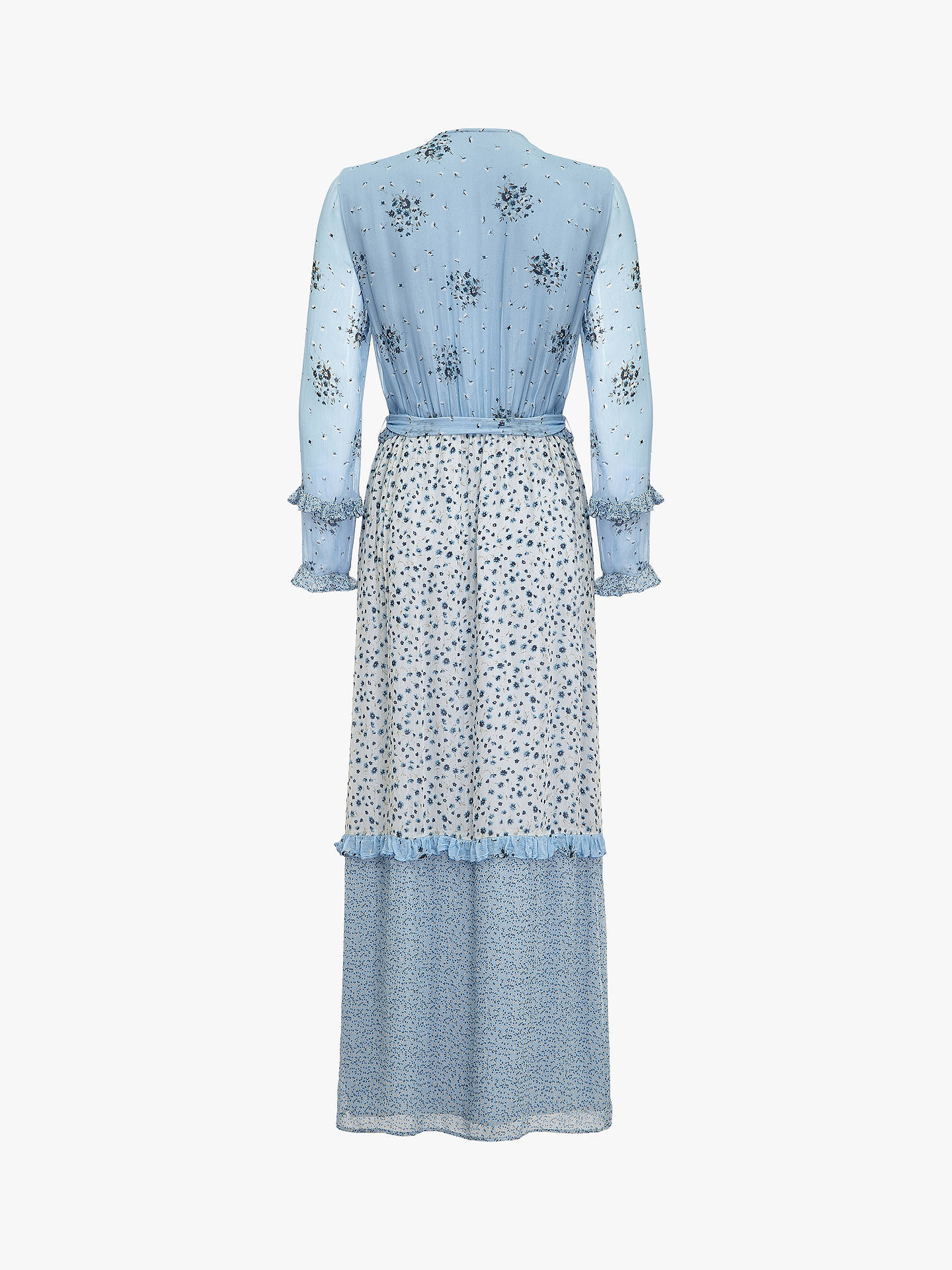 Buy Ghost Avery Wrap Floral Dress, Multi Ditsy, XS Online at johnlewis.com