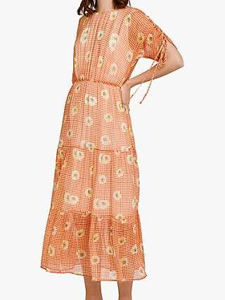 Ghost Sadie Floral Print Dress, Gingham Daisy