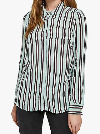 Ghost Jojo Stripe Blouse, Green/Multi
