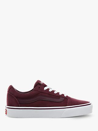 Vans Ward Lace Up Trainers, Burgundy