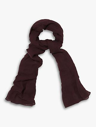 Phase Eight Henni Plain Scarf, Burgundy
