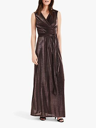Phase Eight Evelyn Shimmer Maxi Dress, Bronze