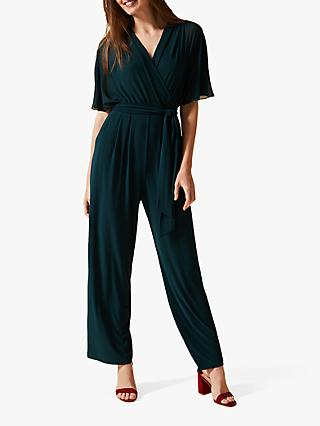 Phase Eight Munroe V Neck Jumpsuit, Rainforest