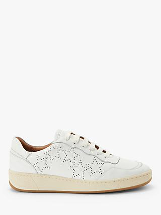 AND/OR Evalina Leather Trainers, White