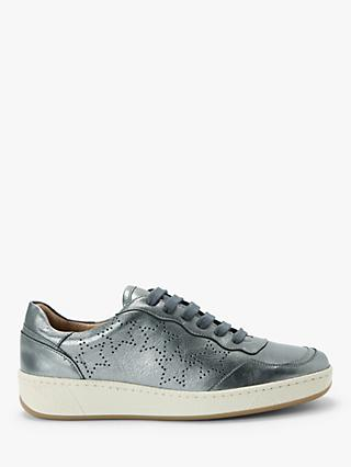 AND/OR Evalina Leather Trainers, Silver