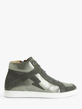 AND/OR Elvie Leather High Top Trainers
