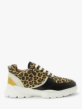 John Lewis & Partners Ellie Leather Trainers