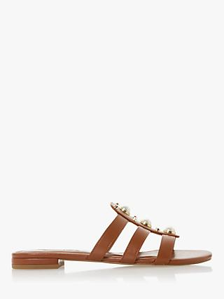 Dune Nikole Leather Stud Slider Sandals