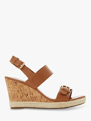 Dune Kendyl Leather Wedge Heel Sandals
