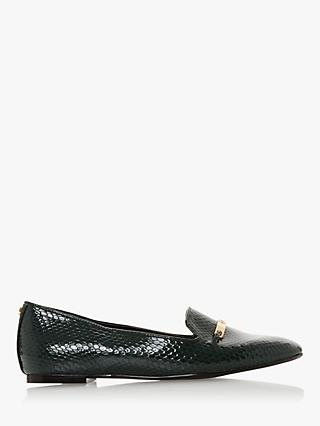 Dune Graced Patent Loafers, Green