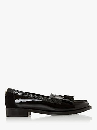 Dune Greatly Wide Fit Tassel Loafers, Black