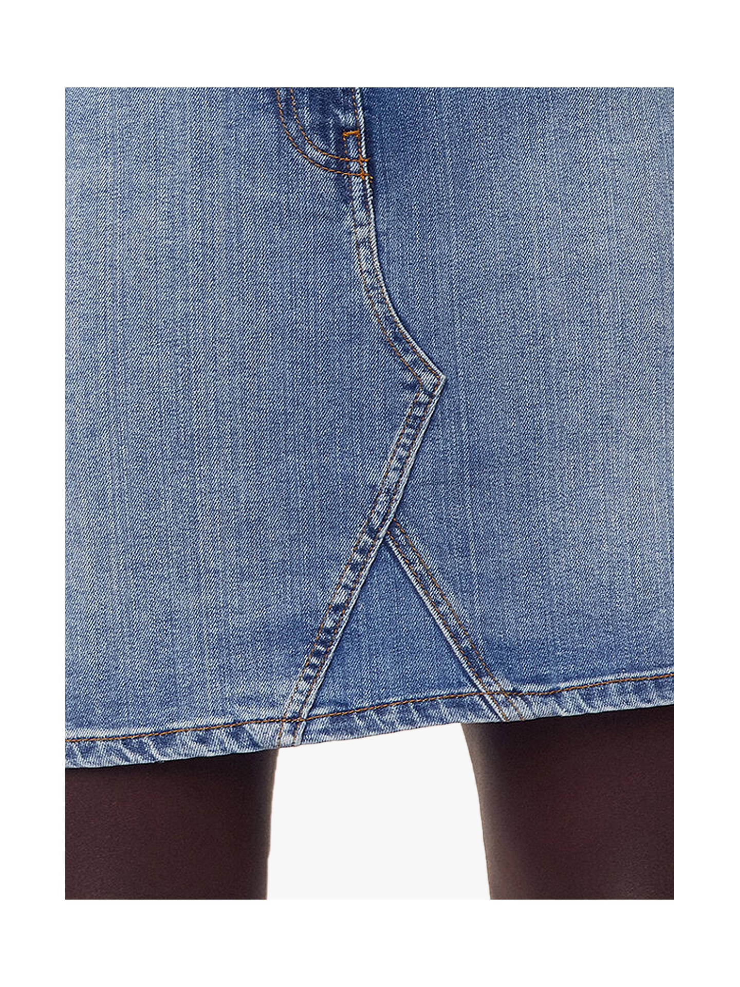 Buy Oasis Denim Mini Skirt, Denim, 16 Online at johnlewis.com
