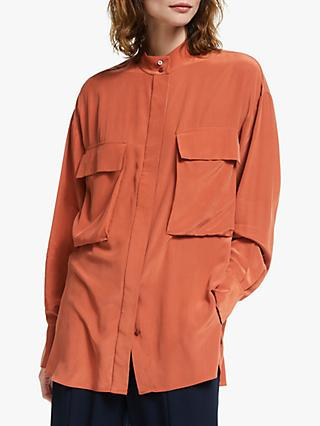 Modern Rarity Silk Utility Top, Orange