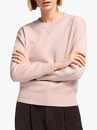 Kin Compact Cotton Jumper, Pink
