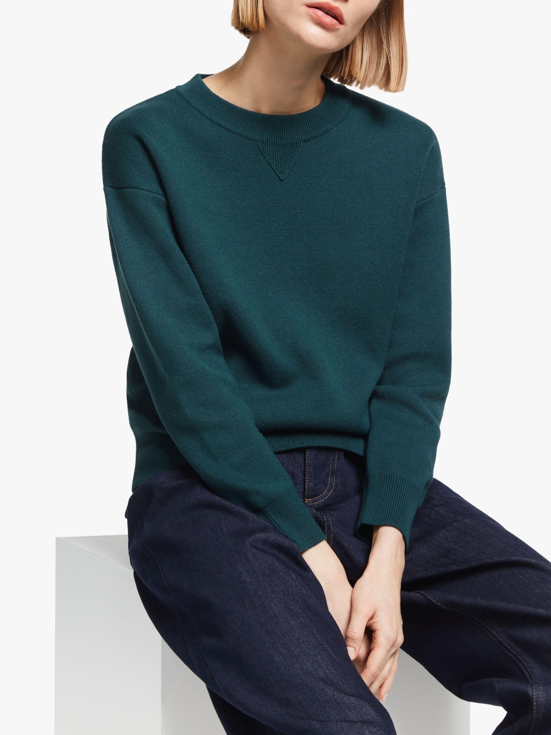 Kin Kin Compact Cotton Jumper, Green