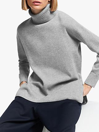 Kin Roll Neck Jumper, Grey