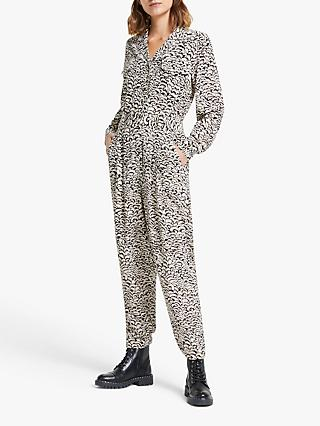 Somerset by Alice Temperley Feather Print Boiler Suit, Natural