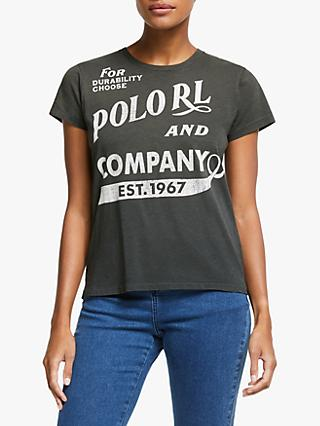 Polo Ralph Lauren Crew Neck Logo T-Shirt, Black Mask