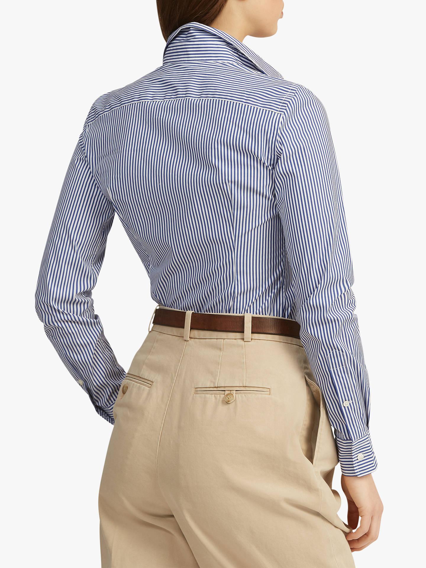Significativo alluvione Indosso vestiti  Polo Ralph Lauren Slim Fit Striped Shirt at John Lewis & Partners