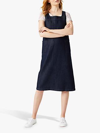 c7c2f6db917a0c White Stuff Time Flies Pinny Dress, Blue Denim