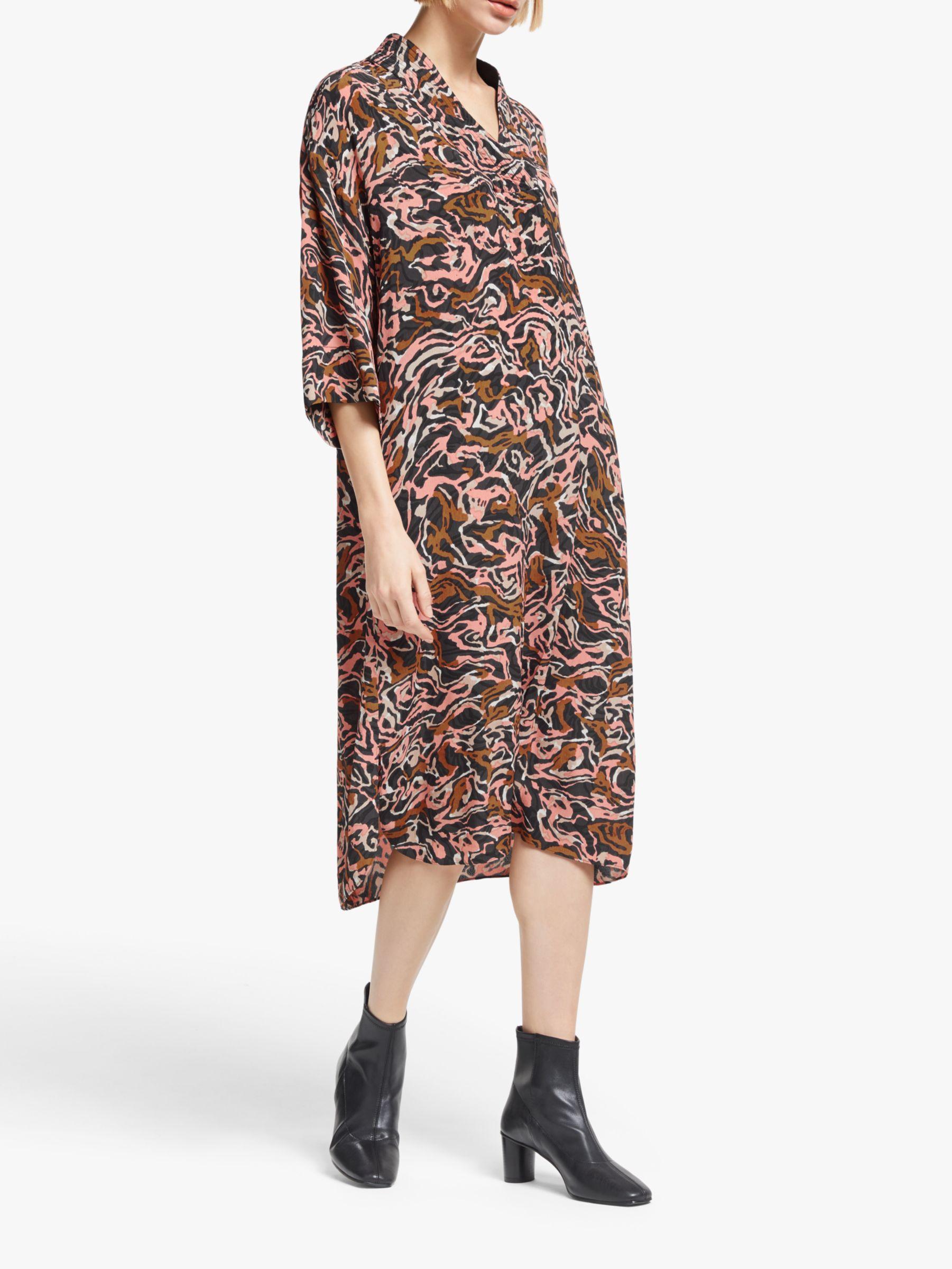 Kin Kin Banya Kimono Dress, Pink/Multi