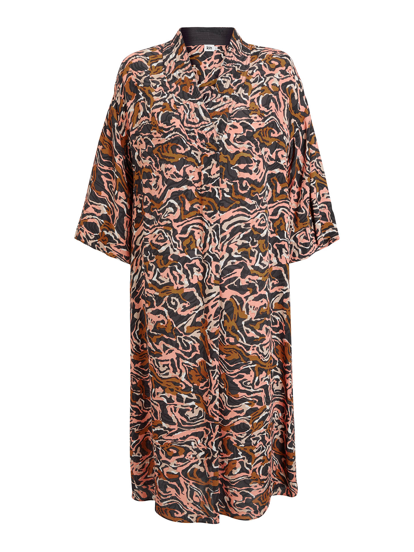 Buy Kin Banya Kimono Dress, Pink/Multi, 8 Online at johnlewis.com