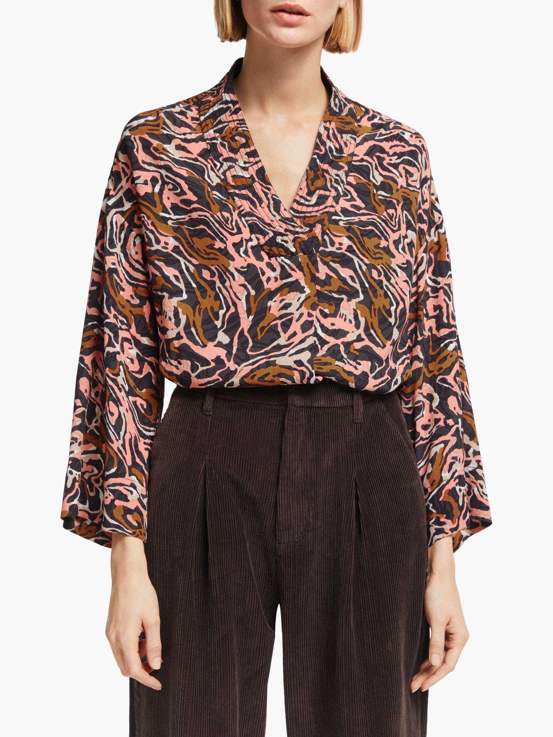 Kin Kin Banya Kimono Shirt, Pink/Multi