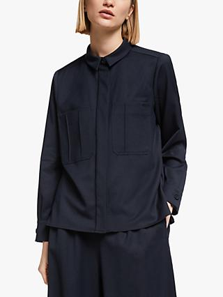 Kin Wool Utility Shirt, Navy
