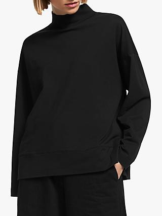 Kin Roll Neck Top, Black