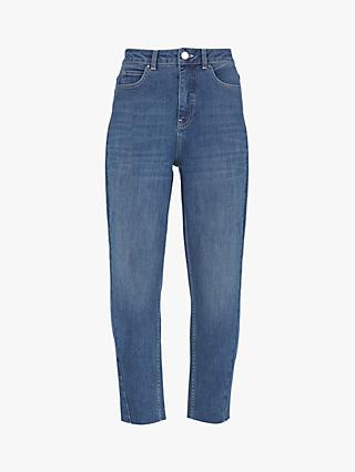 Mint Velvet Dallas Tapered Leg Jeans, Dark Blue