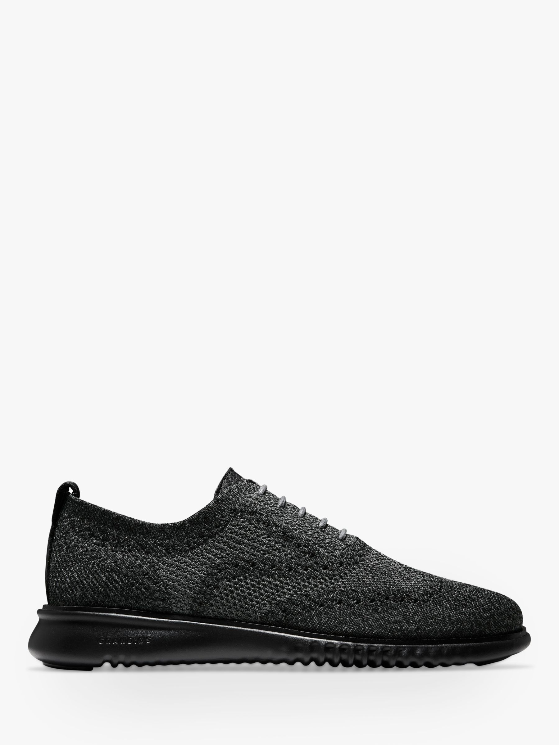Cole Haan Cole Haan Zerogrand Stitchlite Knitted Oxford Shoes, Black/Magnet