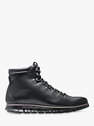 Cole Haan Zerogrand Leather Hiker Boots, Black